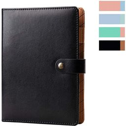 Leather Binder Journal Refillable Diary with Pen Holder, 6 Ring Binder Ruled Notebook and Journal... | Amazon (US)