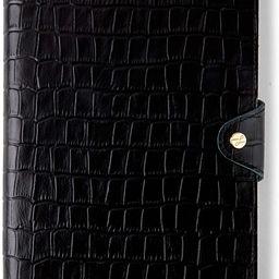 Leatherology Black Croc Medium Snap Journal with Pen Loop | Amazon (US)