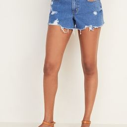 Mid-Rise Distressed Boyfriend Jean Cut-Off Shorts for Women - 3-inch inseam | Old Navy (US)