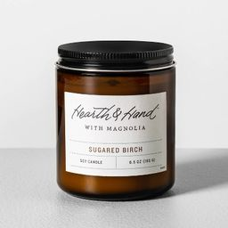6.5oz Glass Candle Sugared Birch - Hearth & Hand™ with Magnolia | Target