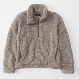 Womens Half-Zip Sherpa Fleece Sweatshirt   Womens Up To 60% Off Select Styles   Abercrombie.com   Abercrombie & Fitch (US)
