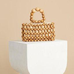 Wooden Beaded Clutch Bag, Handmade Vintage Wood Bag, Top Handle bag, Unique Chic Handbag For | Etsy (US)