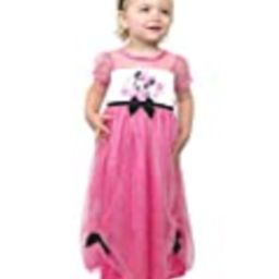 Minnie Mouse Toddler Girls Fantasy Gown Nightgown Pajamas (5T, Pink/Multi) | Amazon (US)