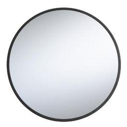 Round Black Sana Mirror   World Market
