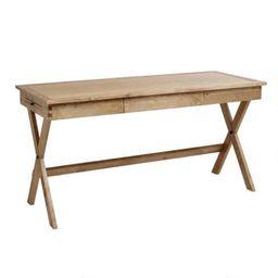Natural Wood Campaign Desk | World Market