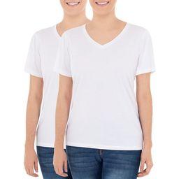 Women's Essential V-Neck T-Shirt, 2 Pack Bundle   Walmart (US)