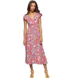 Scoop Women's Midi Dress with Keyhole Back   Walmart (US)