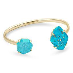 Cynthia Gold Cuff Bracelet in Blue Mix   Kendra Scott