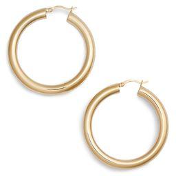 Argento Vivo Medium Hollow Hoop Earrings   Nordstrom