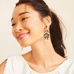 Two Tone Leaf Drop Earrings | Ann Taylor (US)