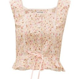 Amy floral-print cotton bustier | Matchesfashion (Global)