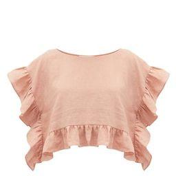 Yalitha ruffled linen blouse | Matchesfashion (Global)