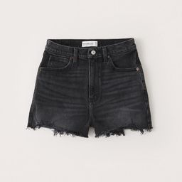 Curve Love Ultra High Rise Mom Shorts | Abercrombie & Fitch (US)
