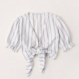 Linen-Blend Wide-Leg Pants | Abercrombie & Fitch (US)