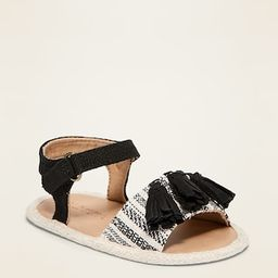 Textile Faux-Suede Tassel Sandals for Baby | Old Navy (US)