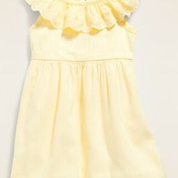 Ruffle-Trim Cinched-Waist Dress for Baby | Old Navy (US)