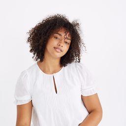 Embroidered Pintuck Top | Madewell