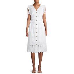 Time and Tru Women's Flutter Sleeve Button Dress   Walmart (US)