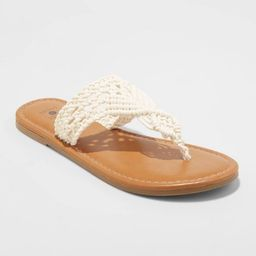 Women's Fia Crochet Flip Flops - Shade & Shore™   Target