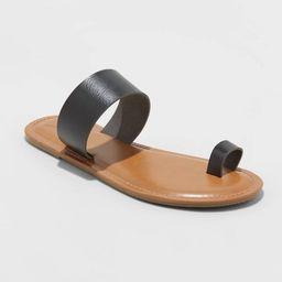 Women's Kessie Toe Ring Slide Sandals - Universal Thread™ | Target