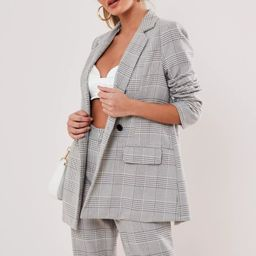 Tall Grey Co Ord Check Blazer | Missguided (UK & IE)