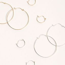 Gold Fill Classic Threader Hoop Earring Set | Free People (US)