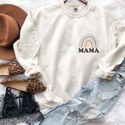 Rainbow Mama Sweatshirt, Rainbow Mama Hoodie, Mama Sweatshirt, Mama Hoodie, Retro Mom Sweatshirt,...   Etsy (US)