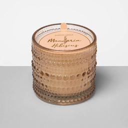 4.5oz Hobnail Textured Glass Jar Candle Mandarin Hibiscus - Opalhouse™   Target