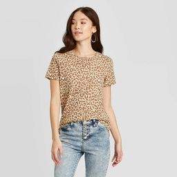 Women's Animal Print Camel Short Sleeve Graphic T-Shirt Zoe+Liv (Juniors') - Tan   Target