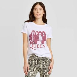 Women's Queen Short Sleeve Graphic T-Shirt (Juniors') - White   Target