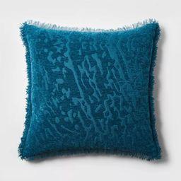 Euro Alligator Chenille Fringe Throw Pillow Teal - Opalhouse™   Target