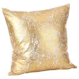 """Gold Donnelou Metallic Foil Print Throw Pillow (18"""") - Saro Lifestyle   Target"""