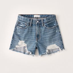 Mid Rise Boyfriend Shorts   Abercrombie & Fitch (US)