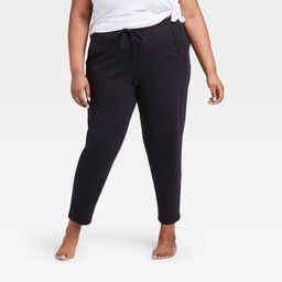 """Women's Plus Size French Terry Joggers 27"""""""" - All in Motion Black 2X, Women's, Size: 2XL   Target"""