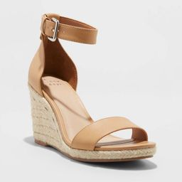 Women's Lola Ankle Strap Espadrille Wedge - A New Day™   Target