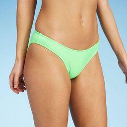 Women's High Leg Scoop Bikini Bottom - Xhilaration™ Neon Lime | Target
