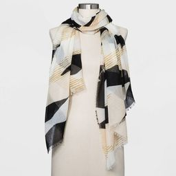 Women's Striped Scarf - A New Day™ Black | Target