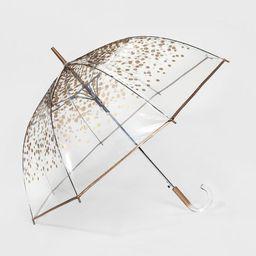 ShedRain Clear Bubble Umbrella - Gold Dot | Target
