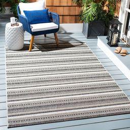 Safavieh Courtyard Xzavier Geometric Striped Indoor/Outdoor Area Rug | Walmart (US)