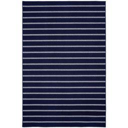 "Garland Avery Navy 5'x7'5"" Pin Striped Indoor Area Rug | Walmart (US)"
