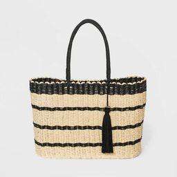 Striped Straw Tote Handbag - A New Day™ Natural | Target