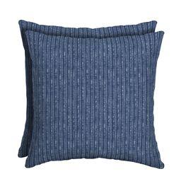 "Mainstays Navy 16"" Outdoor Throw Pillow, Set of 2   Walmart (US)"