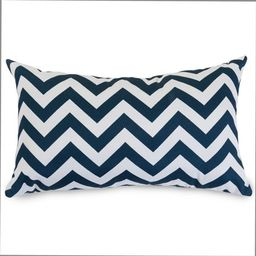 Majestic Home Goods Chevron Indoor Outdoor Small Decorative Throw Pillow | Walmart (US)