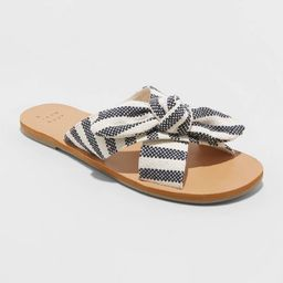 Women's Livia Leopard Knotted Bow Slide Sandals - A New Day™   Target