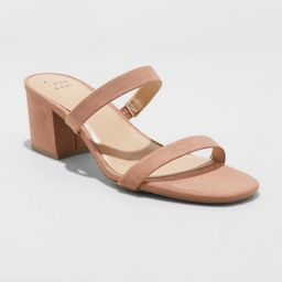 Women's Loryn Thin Strap Heeled Pumps - A New Day™ | Target