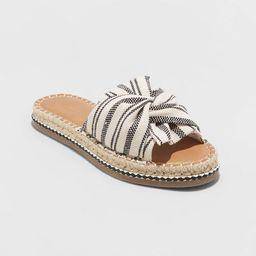 Women's Lila Knotted Espadrille Slide Sandals - Universal Thread™   Target