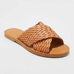 Women's Tabitha Woven Crossband Slide Sandals - Universal Thread™   Target