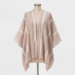 Women's Textured Striped Kimono - Universal Thread™ Clay | Target