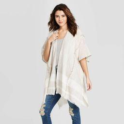 Women's Woven Striped Kimono - Universal Thread™ Gray One Size | Target