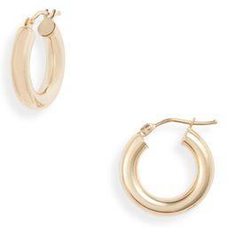Essentials 14K Gold Smooth Hoop Earrings | Nordstrom